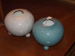 crackled vases
