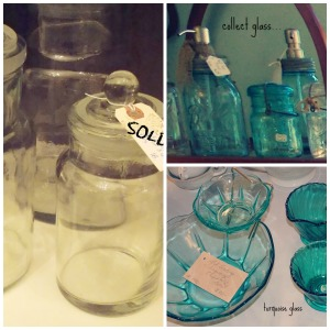 glass collection collage
