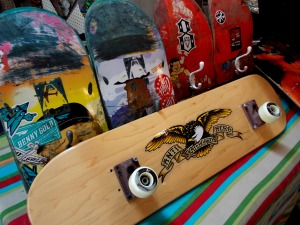 skate board coat hooks