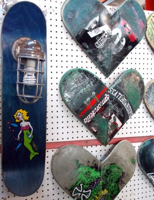 Skate board sconce and art