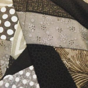 black and white scrap quilt